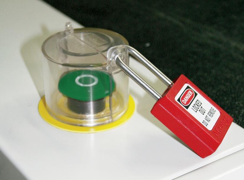 Capot de protection pour boutons poussoirs master lock s2151 - Bouton poussoir interrupteur ...
