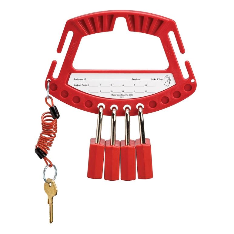 Poign e de consignation master lock s125 - Cadenas de consignation ...